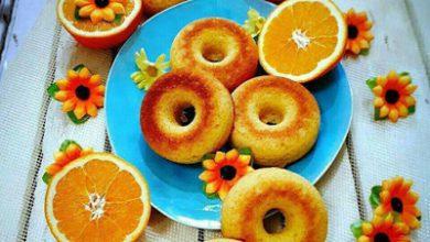 تصویر طرز تهیه دونات پرتقالی