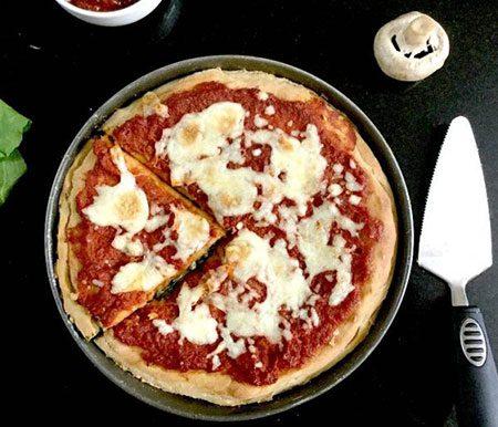 طرز تهیه پیتزا اسفناج؛ پیتزای سالم و هلثی