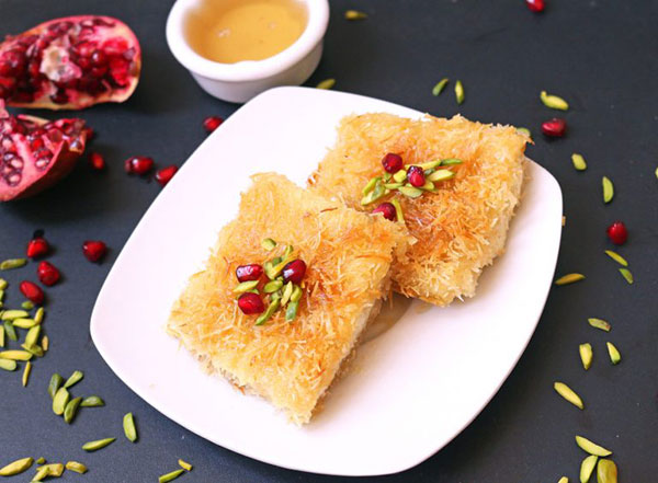 شیرینی کنافه (کونفی)؛ این سدر پنیری ترکی!