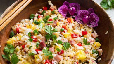 تصویر برنج سرخ کرده هاوایی؛ تنوعی از رنگها و مزهها